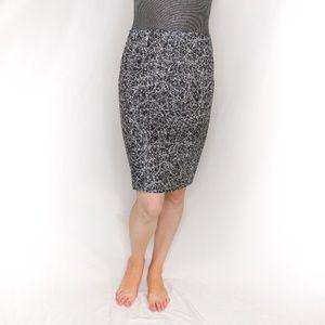 CEDRIC CHARLIER Splatter Lamb Leather Pencil Skirt